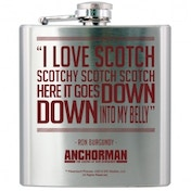 Anchorman Stainless Steel Hip Flask