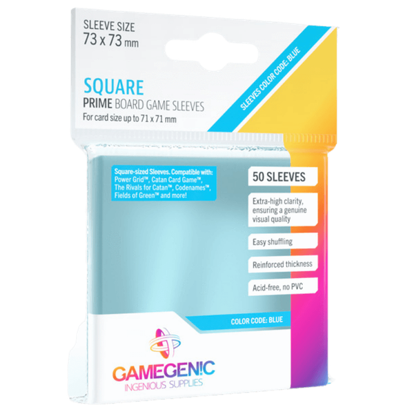Gamegenic Prime Square Sized 73 x 73 mm - 50 Sleeves