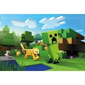 Minecraft Ocelot Chase Maxi Poster