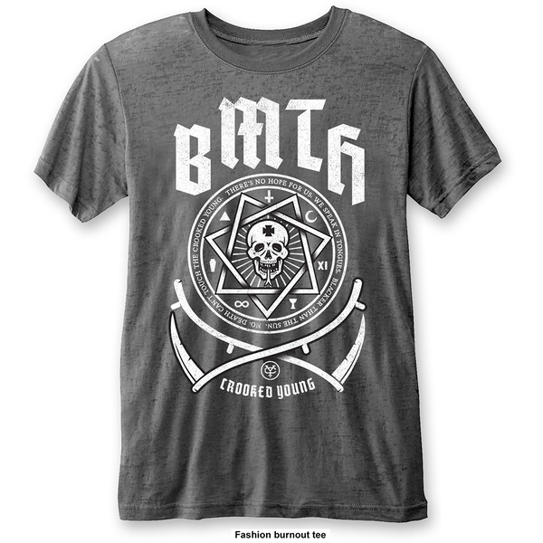 Bring Me The Horizon - Crooked Young Unisex Large T-Shirt - Grey
