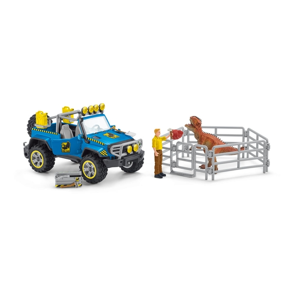SCHLEICH Dinosaurs Off-Road Vehicle with Dino Outpost Toy Playset