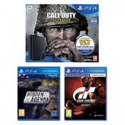 PS4 500GB Console Call of Duty WWII + Gran Turismo Sport + Hidden Agenda Bundle