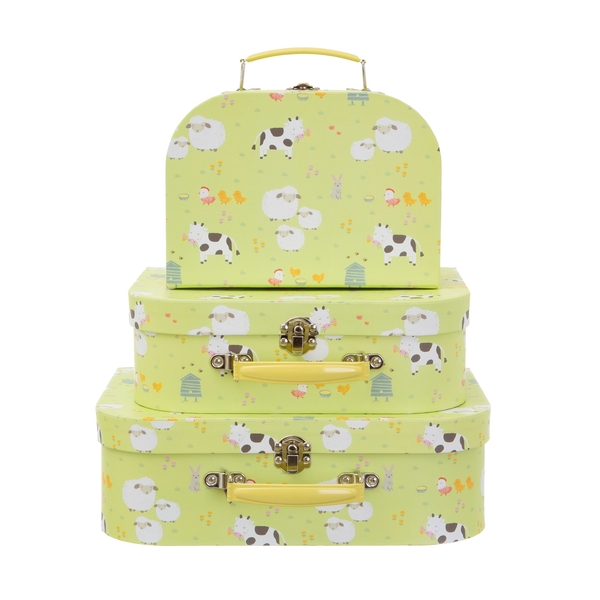 Sass & Belle Farmyard Friends (Set of 3) Suitcases