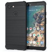 CASEFLEX GOOGLE PIXEL 3 CARBON ANTI FALL TPU CASE - BLACK