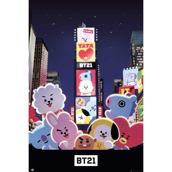 BT21 Times Square Poster