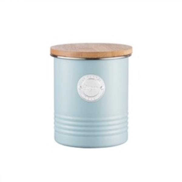 Typhoon 1 Litre Living Sugar Canister Steel Blue 11 x 11 x 15.5 cm