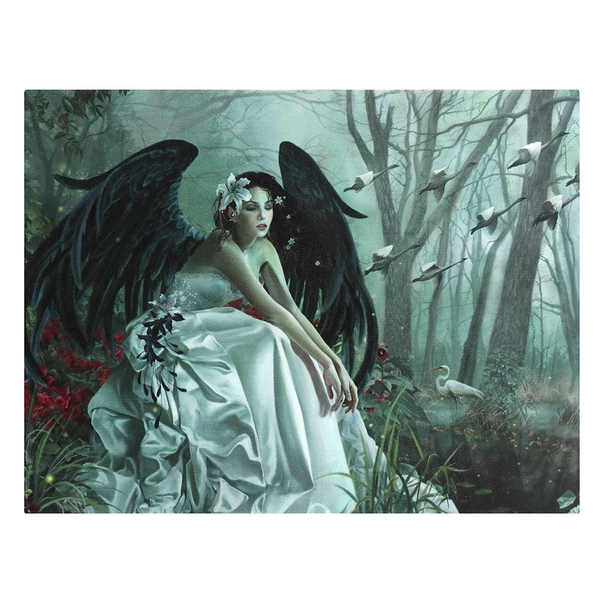Swan Song Canvas Plaque by Nene Thomas