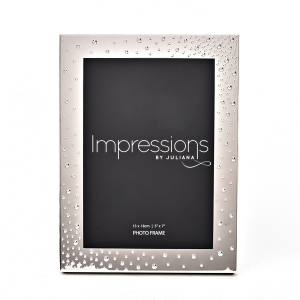 """Impressions Silver-Plated Corner Dots Photo Frame 5"""" x 7"""""""