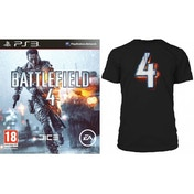 Battlefield 4 Game (Includes China Rising DLC) + BF4 Black T-Shirt in Medium PS3
