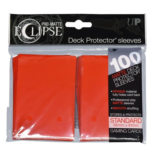 Ultra Pro Apple Red Card Sleeves - 100 Sleeves