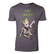 Marvel Comics Guardians of the Galaxy Vol. 2 Men's X-Large I am Groot T-Shirt - Grey