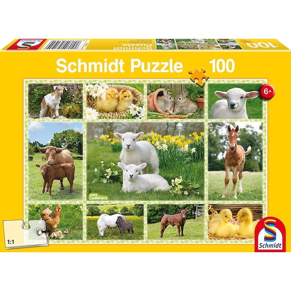 Image of Farm Animals Collage Jigsaw Puzzle 100 Piece Jigsaw