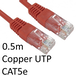 RJ45 (M) to RJ45 (M) CAT5e 0.5m Red OEM Moulded Boot Copper UTP Network Cable - Image 2