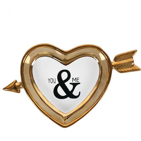 You & Me Gold Jewellery Dish Pack Of 4