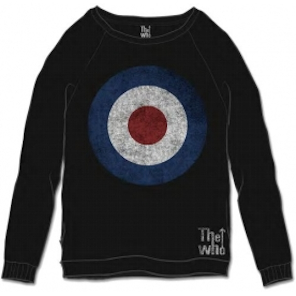 The Who Target Distressed Black Mens Sweatshirt Size: X Larg