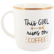 This Girl Runs On Coffee Mug