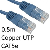 RJ45 (M) to RJ45 (M) CAT5e 0.5m Blue OEM Moulded Boot Copper UTP Network Cable