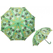 Green Cats And Dogs Childrens Umbrella