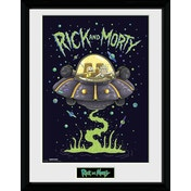 Rick and Morty Ship Framed Collector Print