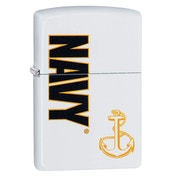 Zippo US Navy Anchor White Regular Windproof Lighter