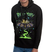 Rick And Morty - Space Men's Large Hoodie - Black