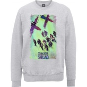 DC Comics - Suicide Squad Movie Poster Men's XX-Large Sweatshirt - Grey