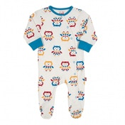 Kite Kids Baby-Boys 0-3 Months Owl Sleepsuit Animal Print Pyjama Set