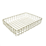 Wire Paper Tray Wavy Gold 34cm