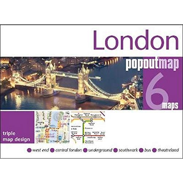 London PopOut Map 3 PopOut maps in one handy, pocket-size format Sheet map, folded 2019