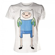 Adventure Time Finn T-Shirt Small White