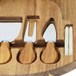 Acacia Round Cheese Board & Knives Set | M&W - Image 5