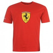 Ferrari Alonso Logo T-Shirt Medium Red