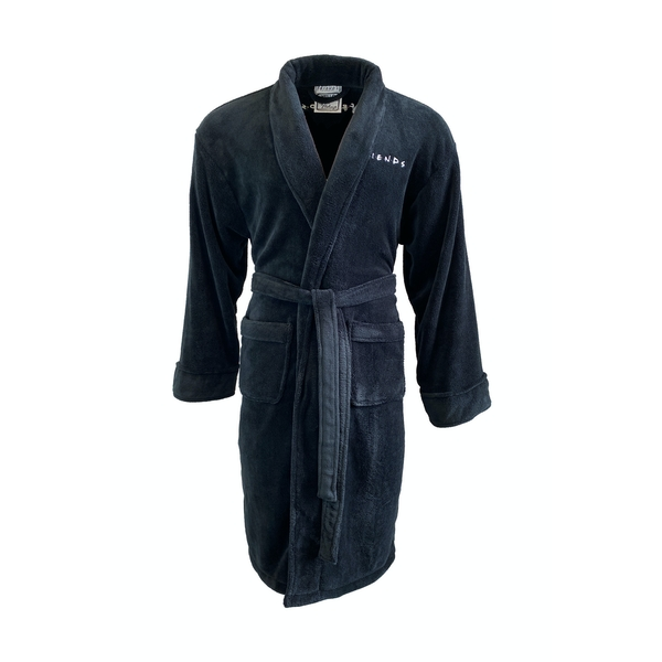Friends Ugly Naked Guy Black Robe Adult One Size