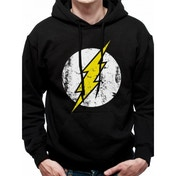 The Flash - Logo Black (Pullover Hoodie) Black X-Large