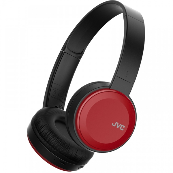 JVC Deep Bass Bluetooth On Ear Headphones Red