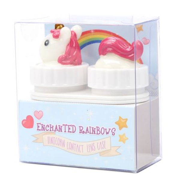 Rainbow Unicorn Handy Contact Lens Case