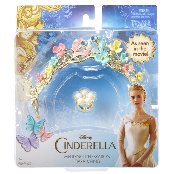 Disney Cinderella Ella's Wedding celebration Tiara and Ring  - Image 2