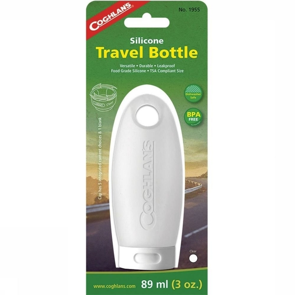 Coghlans Silicone Travel Bottle 89ml - Clear