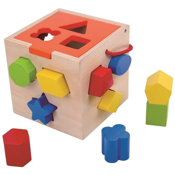 Wooden Shape Sorter Activity Toy