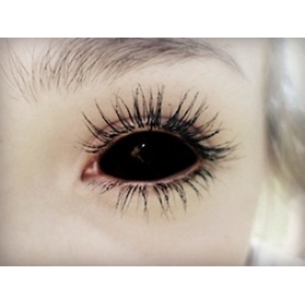 Posessed Black 1 Year Sclera Coloured Contact Lenses (MesmerEyez