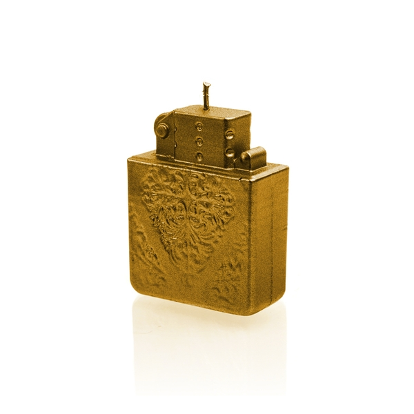 Gold Lighter Candle