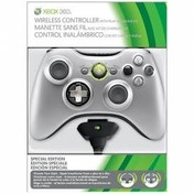 Ex-Display Official Wireless Silver Controller + Play & Charge Kit Xbox 360 Used - Like New