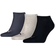 Puma Sneaker Invisible Socks UK Size 9-11 (3 Pairs) Navy Mix