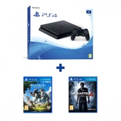 PlayStation 4 D-Chassis (1TB) Black Console + Horizon Zero Dawn + Uncharted 4