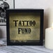 Black Tattoo Fund Glass Money Box with Wooden Frame - Image 3