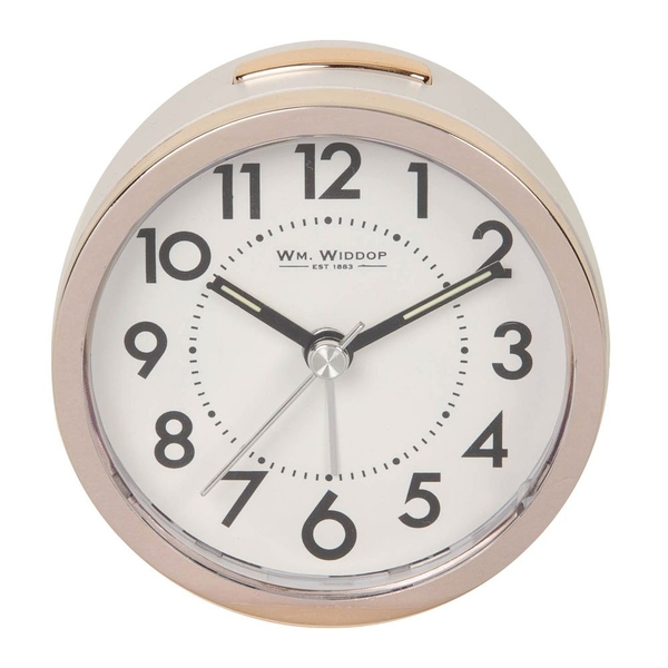 Sweep Alarm Clock Gold & White | 8.5cm