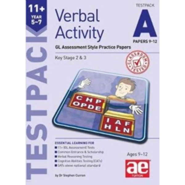 11+ Verbal Activity Year 5-7 Testpack A Papers 9-12 : GL Assessment Style Practice Papers