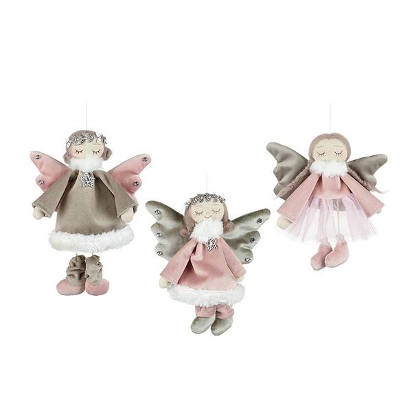 Angels In Dresses Hanging Decoration by Heaven Sends (Set of 3)
