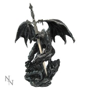 Black Dragon With Sword Letter Opener
