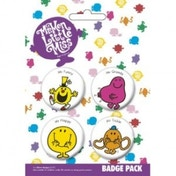 Mr Men & Little Miss Badge Pack